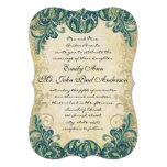 Emerald Gold & Lime Peacock Wedding Invitations