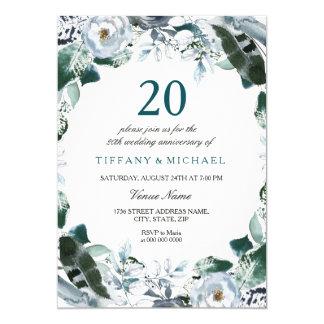 Emerald Green 20th Wedding Anniversary Invite