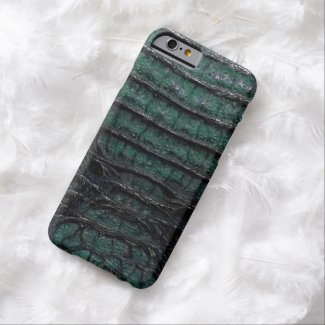 Emerald Green Alligator Print Barely There iPhone 6 Case