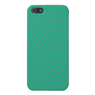 Emerald Green and Dull Green Geometric Pattern iPhone SE/5/5s Cover