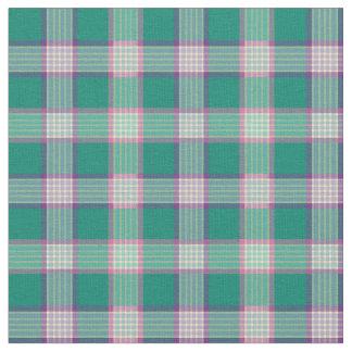 Emerald Green and Purple Fashion Plaid Fabric