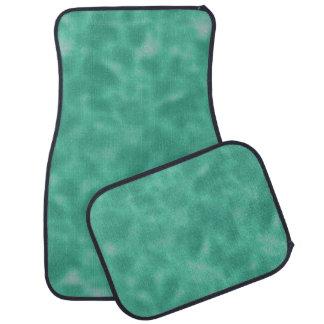 Emerald Green and White Mottled Car Floor Mat