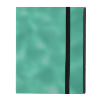 Emerald Green and White Mottled iPad Folio Cases
