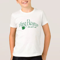 Emerald Green and White Shamrock Ring Bearer Tee