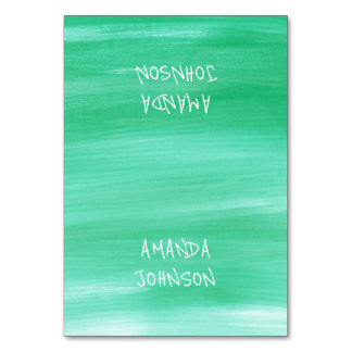 Emerald Green Aquarelle Personalized Name Event Card