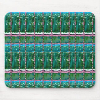 Emerald Green ART Pattern CRYSTAL Stone GIFTS Mouse Pad
