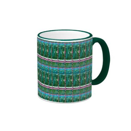 Emerald Green ART Pattern CRYSTAL Stone GIFTS Mugs
