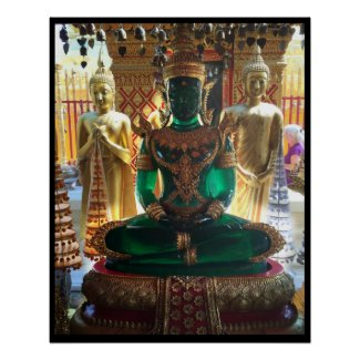 Emerald Green Buddha Doi Suthep Poster