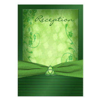 Emerald Green Celtic Love Knot Enclosure Card Business Cards