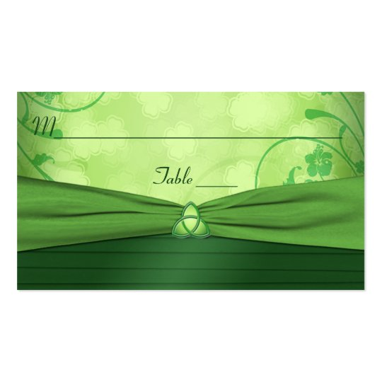 Emerald Green Celtic Love Knot Place Card