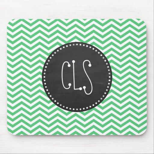 Emerald Green Chevron; Chalkboard Mousepads