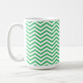 Emerald Green Chevron; zig zag Coffee Mug