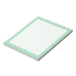 Emerald Green Chevron; zig zag Notepad