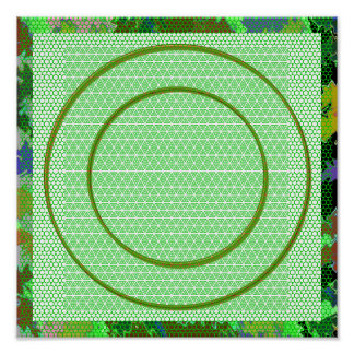Emerald Green Circles Poster