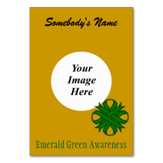 Emerald Green Clover Rbn Tmpl by Kenneth Yoncich Card