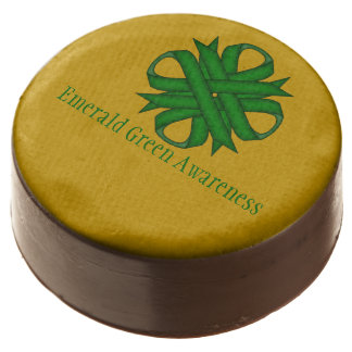 Emerald Green Clover Ribbon by Kenneth Yoncich Chocolate Covered Oreo