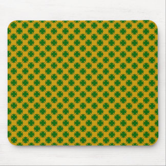 Emerald Green Clover Ribbon Mouse Pad