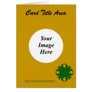 Emerald Green Clover Ribbon Template Card