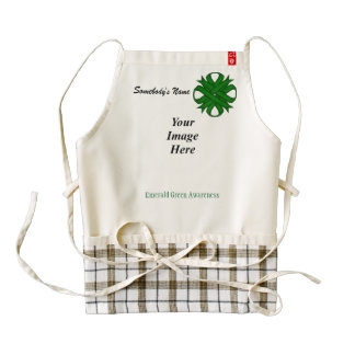 Emerald Green Clover Ribbon Template Zazzle HEART Apron