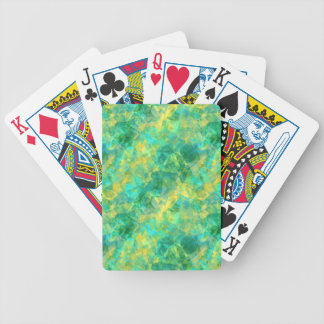 Emerald Green Crumpled Texture Bicycle Playing Cards