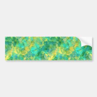 Emerald Green Crumpled Texture Bumper Sticker