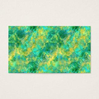 Emerald Green Crumpled Texture Business Card