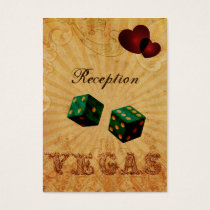 emerald green dice Vintage Vegas reception cards
