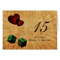 emerald green dice Vintage Vegas table numbers Card