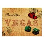 emerald green dice Vintage Vegas Thank You Card