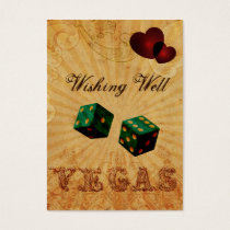 emerald green dice Vintage Vegas wishing well card