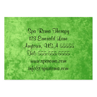 Emerald Green Elegant Business Cards For Women