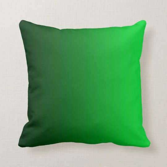Modern Square Pillow Pull : Emerald Green Fade Modern Square Pillow Zazzle.com