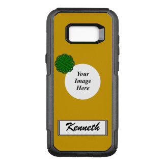 Emerald Green Flower Rbn Tmpl by Kenneth Yoncich OtterBox Commuter Samsung Galaxy S8+ Case