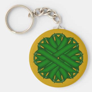 Emerald Green Flower Ribbon Keychain