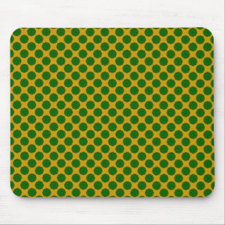 Emerald Green Flower Ribbon Mouse Pad