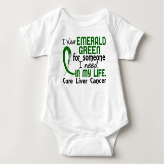 Emerald Green For Someone I Need Liver Cancer Tshirts