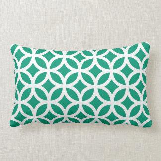 Emerald Green Geometric Lumbar Pillow