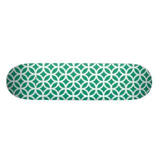 Emerald Green Geometric Skateboard Deck