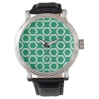 Emerald Green Geometrical Shape Pattern Watches
