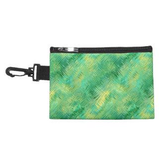 Emerald Green Glassy Texture Accessory Bag