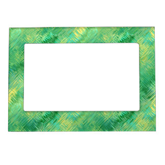 Emerald Green Glassy Texture Magnetic Frame