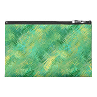 Emerald Green Glassy Texture Travel Accessory Bag