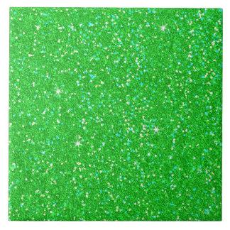 Emerald Green Glitter Effect Sparkle Tile