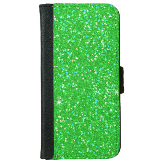 Emerald Green Glitter Effect Sparkle Wallet Phone Case For iPhone 6/6s