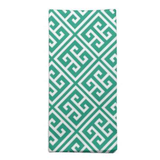 Emerald Green Greek Key Pattern Napkin