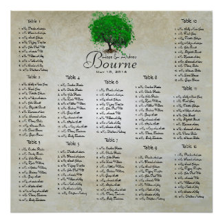 Emerald Green Heart Leaf Tree Seating Chart