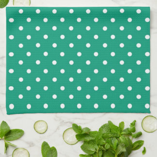 Emerald Green Heart With Name Towel