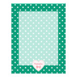 Emerald Green Heart With Name Personalized Letterhead