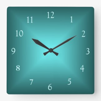 Emerald Green Illuminated>Plain wall Clock