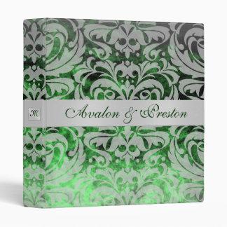 Emerald Green Jewel Damask St Patrick's Day Album 3 Ring Binder